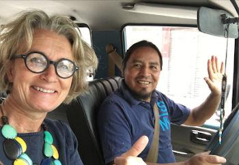 en route en Equateur